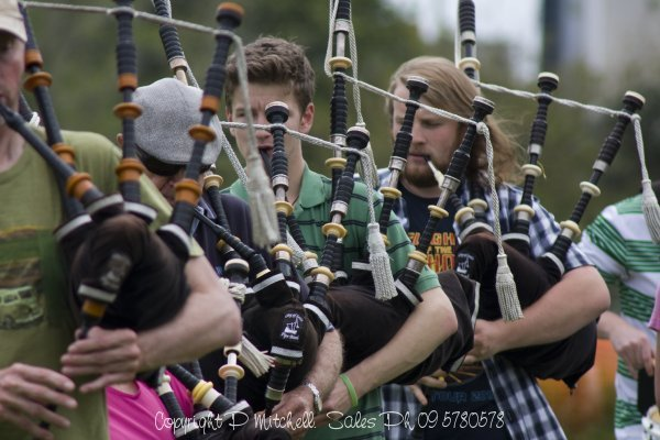 Bag Pipe Practice at Auckland Domain