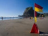Surf Patrol Flags at Piha Beach